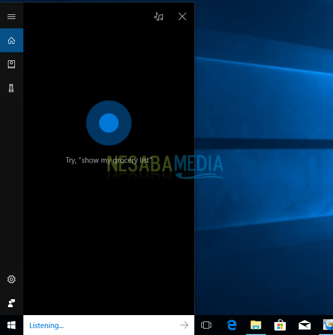 cara mematikan laptop di windows 10 lewat Cortana