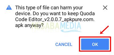 Langkah 4 - klik ok
