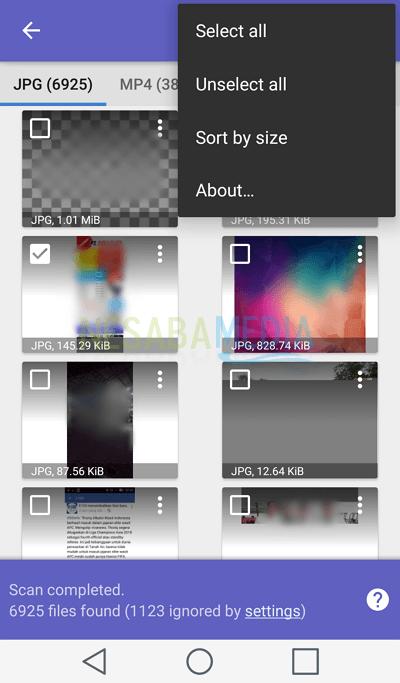 cara mengembalikan foto yang terhapus di HP android