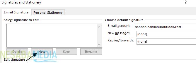 Cara Membuat Signature di Outlook 2