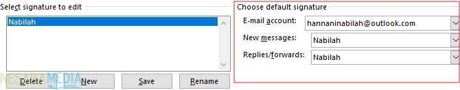 Cara Membuat Signature di Outlook 5