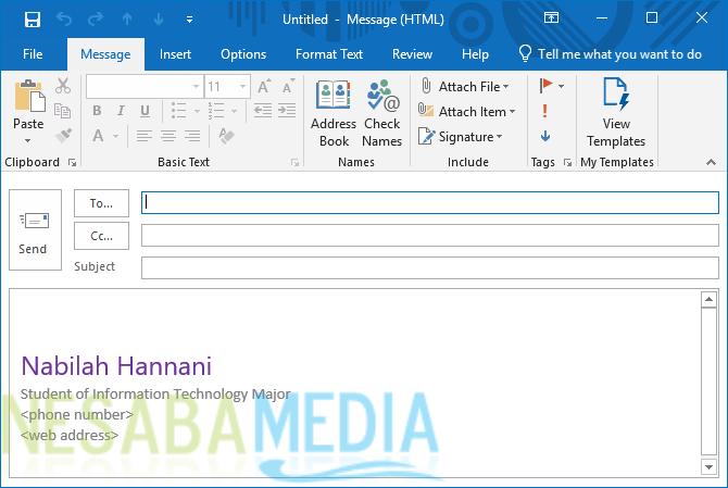 Cara Membuat Signature di Outlook 7