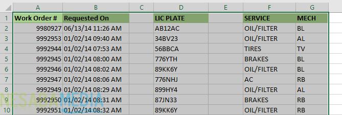 Cara Menghapus Kolom dan Baris Kosong di Excel