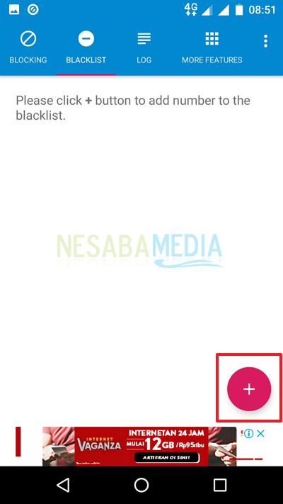 Pindah ke tab Blacklist