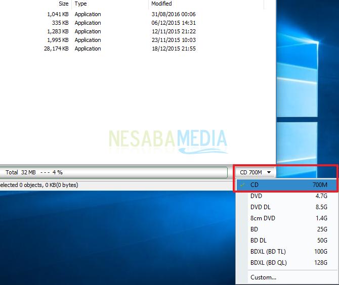 cara membuat file iso dengan PowerISO