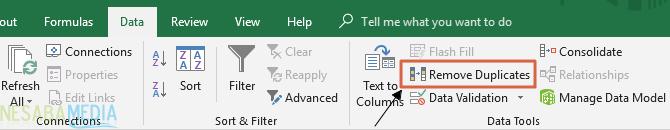 Menghapus Duplikasi Excel 3