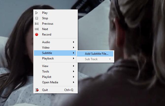 Cara 2 -1 klik kanan pada film lalu pilih add subtitle file