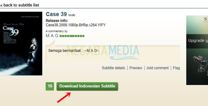Langkah 5 - klik download subtitle