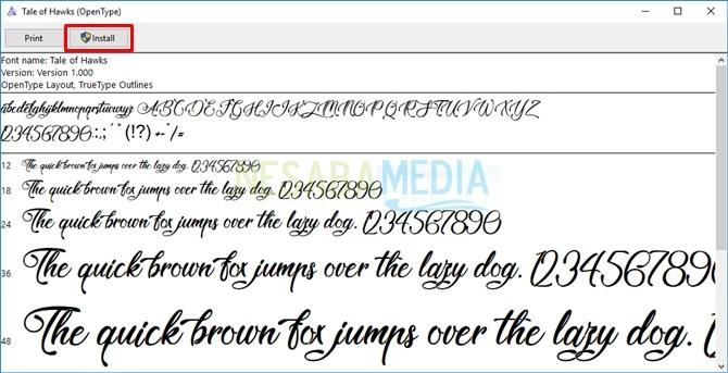 Cara Install Font Baru di Windows