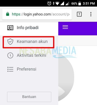 klik keamanan akun