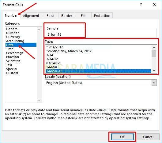 cara mengganti format tanggal di excel untuk pemula