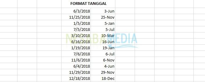 cara mengganti format tanggal di excel