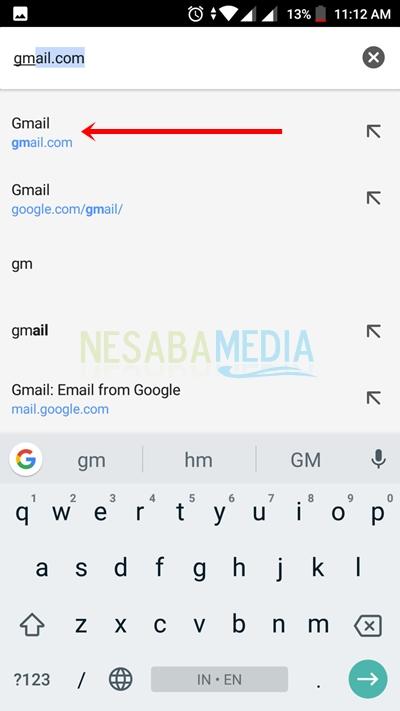 cara membuka email di android