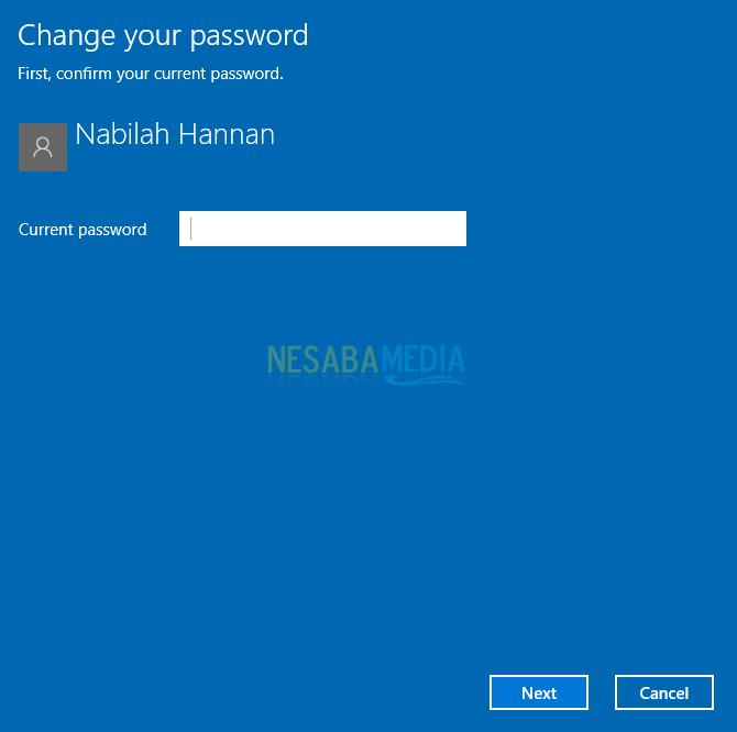 cara setting password login windows 10