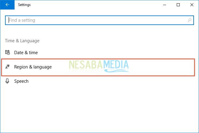 cara mengubah bahasa di windows 10