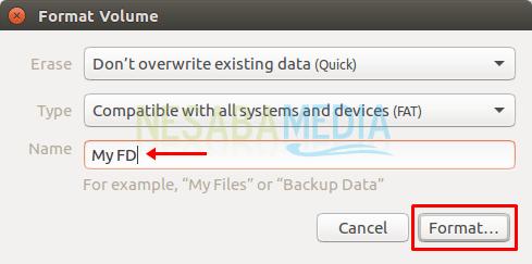 cara format flashdisk di linux