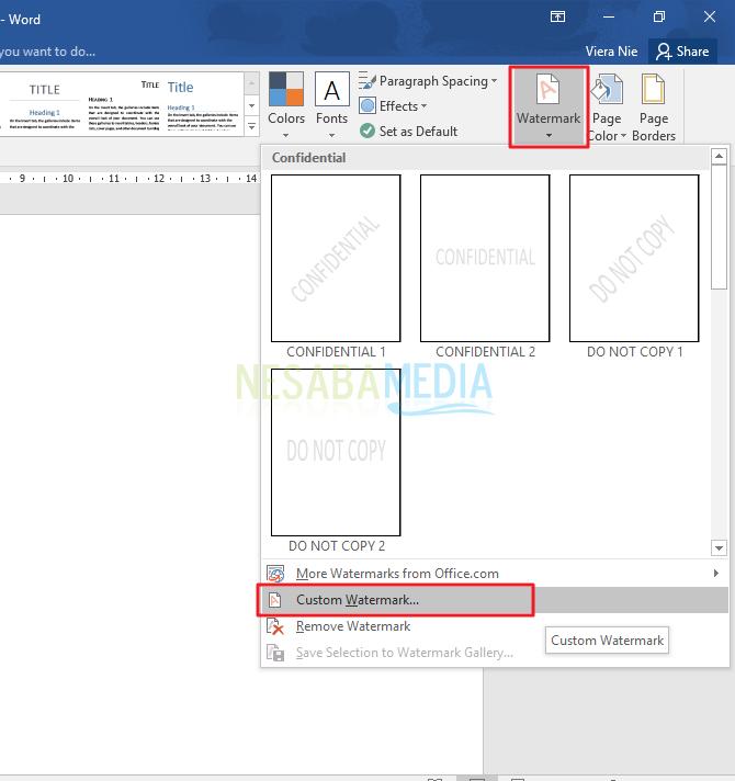 2 Cara Membuat Watermark Di Word Untuk Pemula Lengkap Gambar