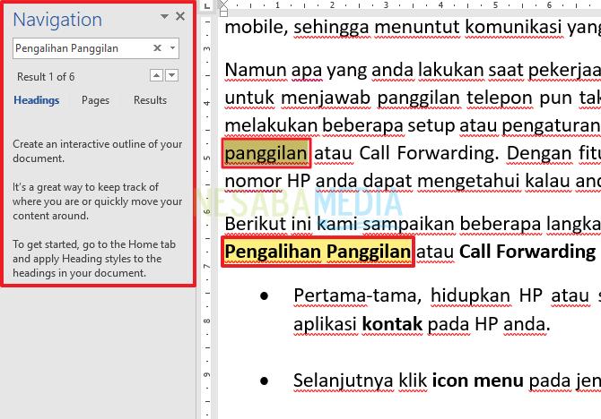 Cara Mencari dan Mengganti Kata pada Microsoft Word