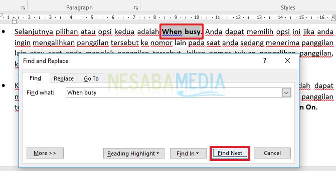 Cara Mencari dan Mengganti Kata atau Kalimat pada Microsoft Word