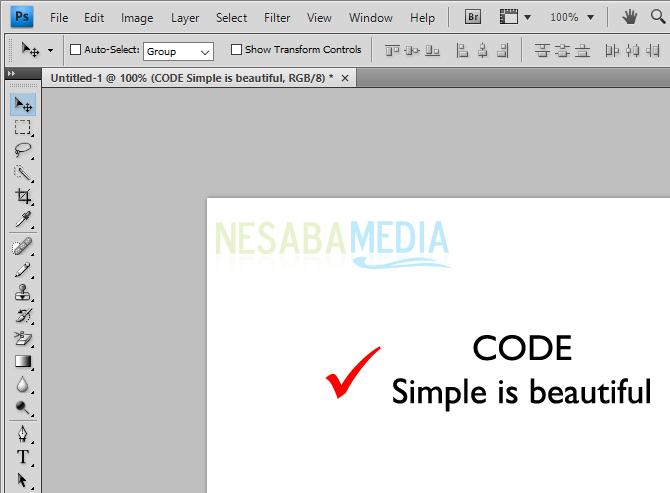 cara membuat tulisan di photoshop cs6