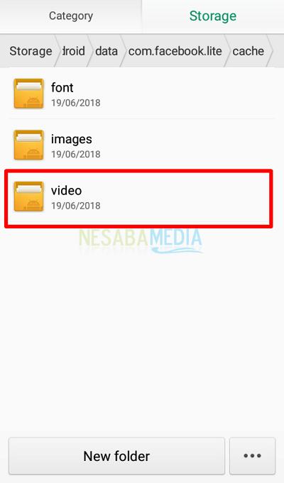 Langkah 8 - pilih folder video