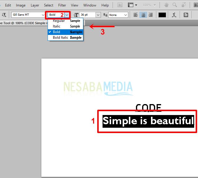 Langkah b1 - customize format