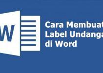cara membuat label undangan di word