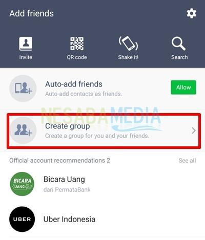 cara membuat grup di line versi baru