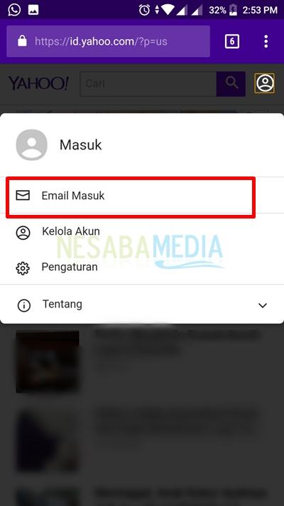select email masuk