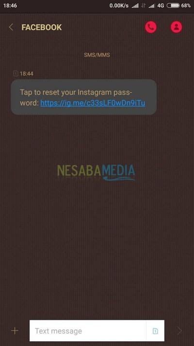 Reset Instagram