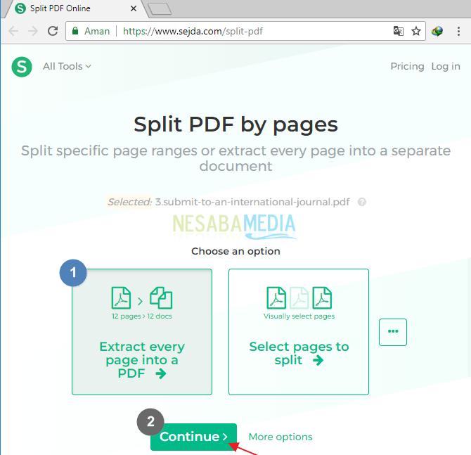 Sejda Split