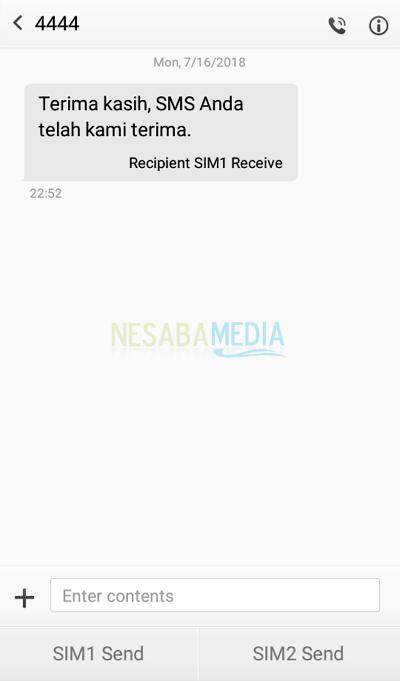 cara unreg kartu telkomsel lewat SMS 2