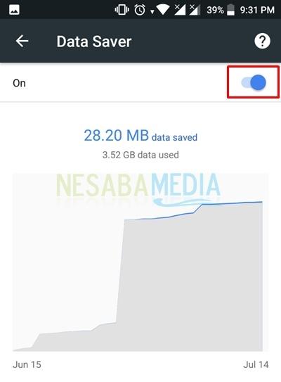 turn data saver on