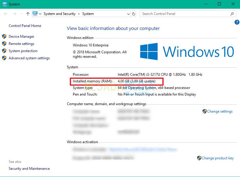 cara melihat jumlah ram laptop