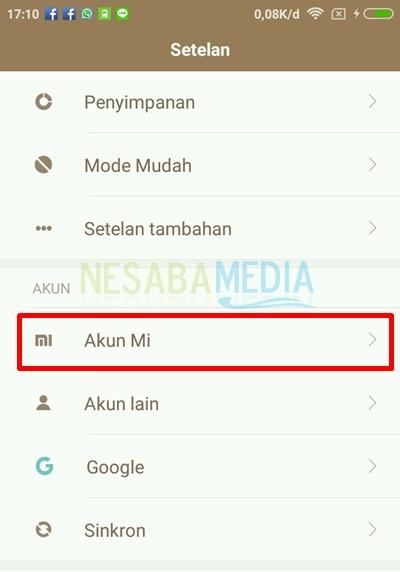 select akun mi