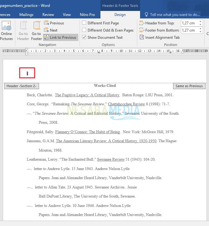 cara membuat halaman berbeda di word 2013