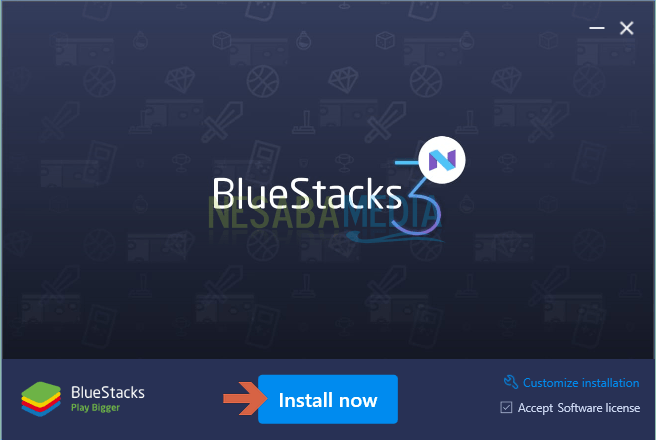 Install Now BlueStacks