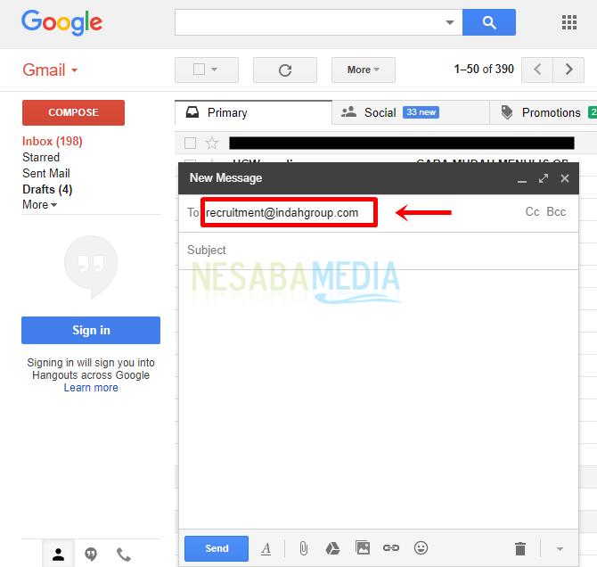 cara mengirim lamaran lewat email melalui gmail