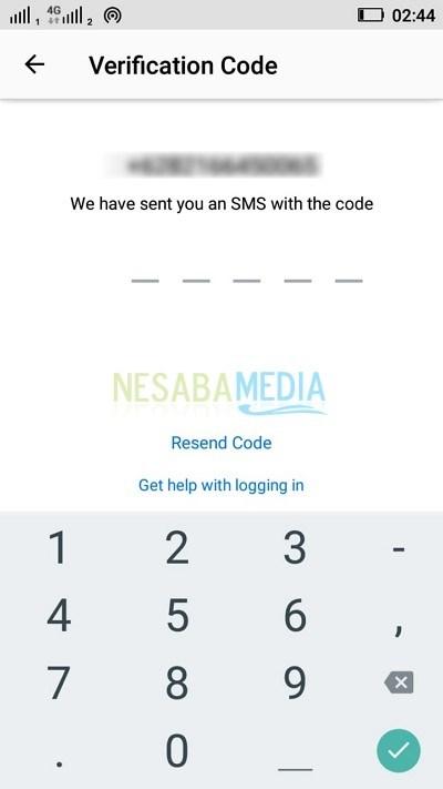 kode verifikasi