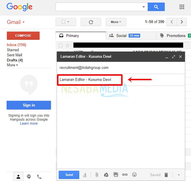 cara mengirim lamaran lewat email dengan mudah