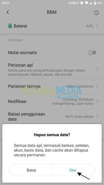 cara logout bbm di android versi terbaru