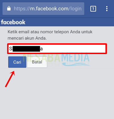 3 - masukkan username