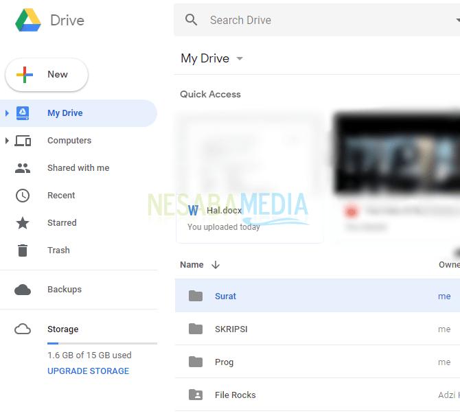 6 - klik dua kali pada folder