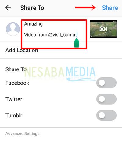 9 - edit caption lalu share