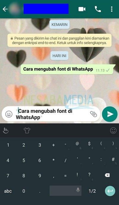 Cara Mengubah Font di WhatsApp
