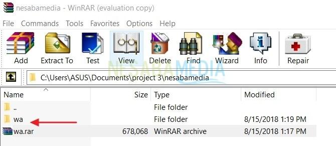 cara mengekstrak file rar di laptop