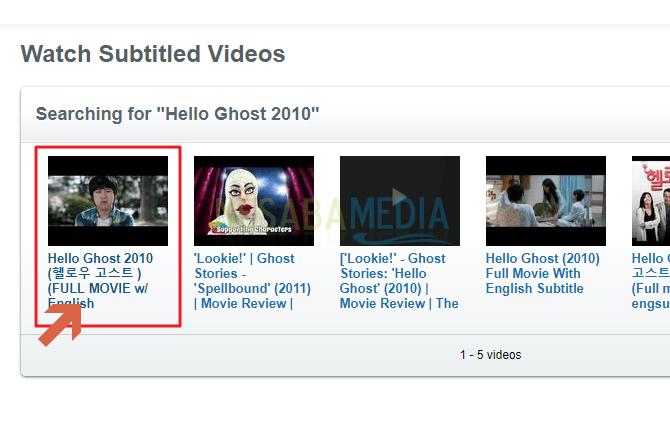 klik pada judul video tersebut