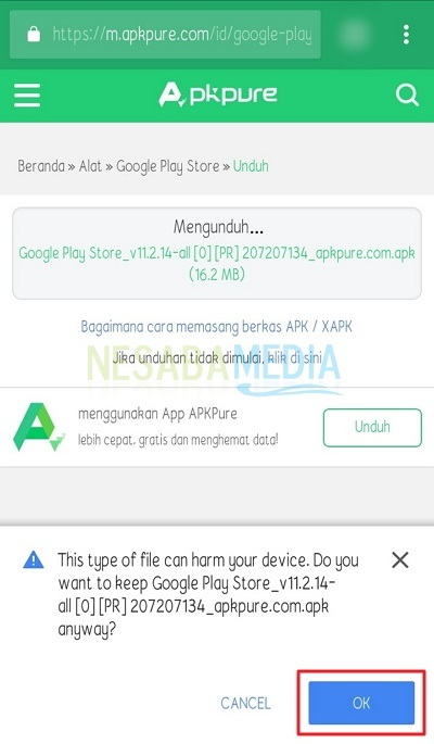 cara download google play store untuk android