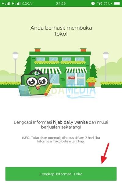langkah-langkah membuka toko