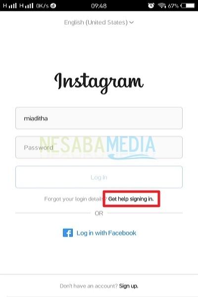cara mengembalikan akun instagram yang lupa sandi